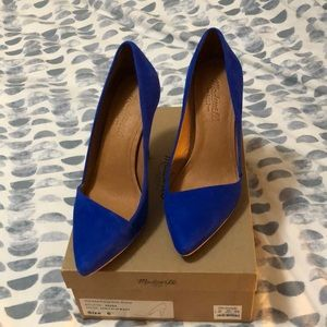 Mira Suede Heels 6.5 Noble Blue